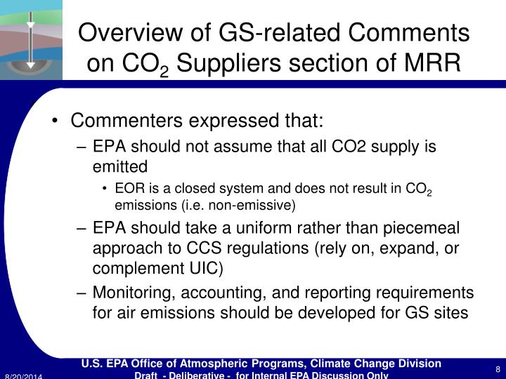 Overview of GS-related Comments on CO