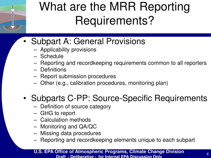 What are the MRR Reporting Requirements?