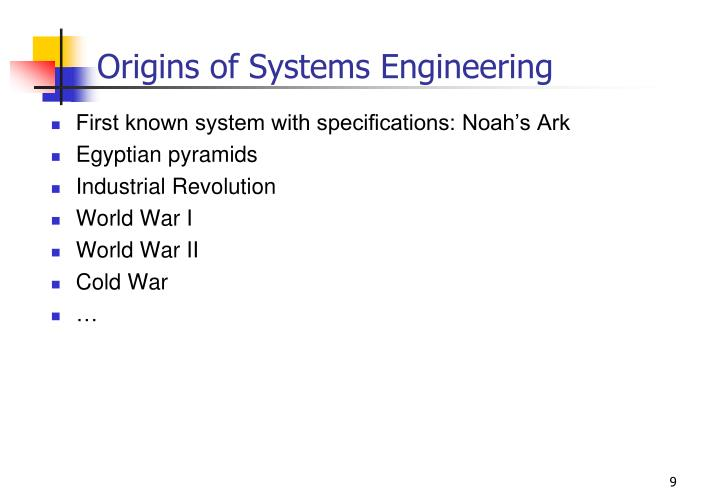 Origins of Systems Engineering