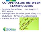 co operation between stakeholders