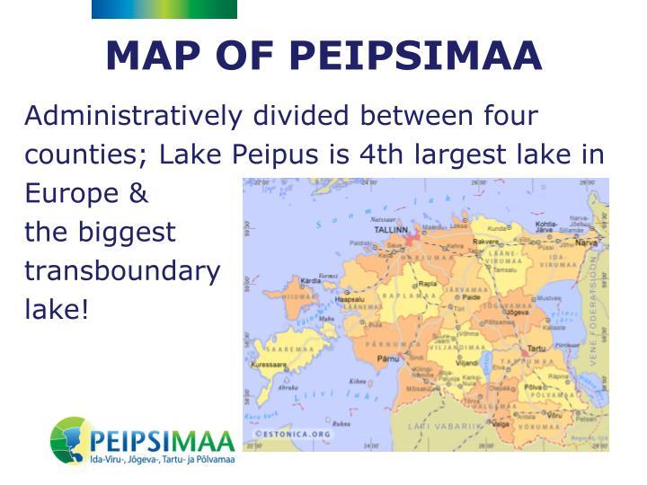 MAP OF PEIPSIMAA