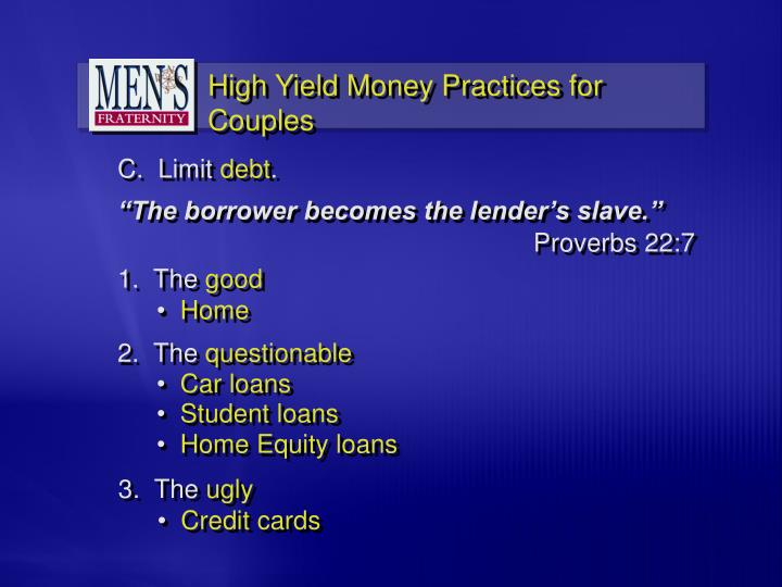"""""""The borrower becomes the lender's slave."""""""