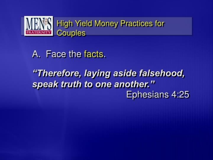 """""""Therefore, laying aside falsehood,"""