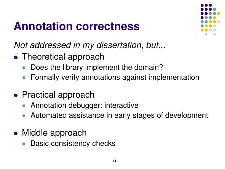 Annotation correctness