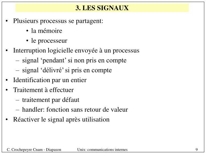 3. LES SIGNAUX