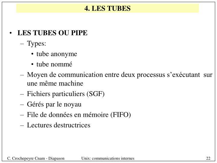 4. LES TUBES