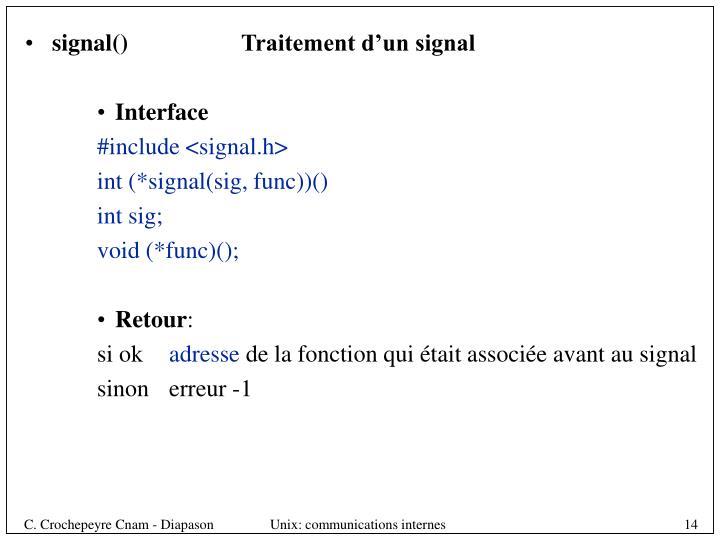 signal()