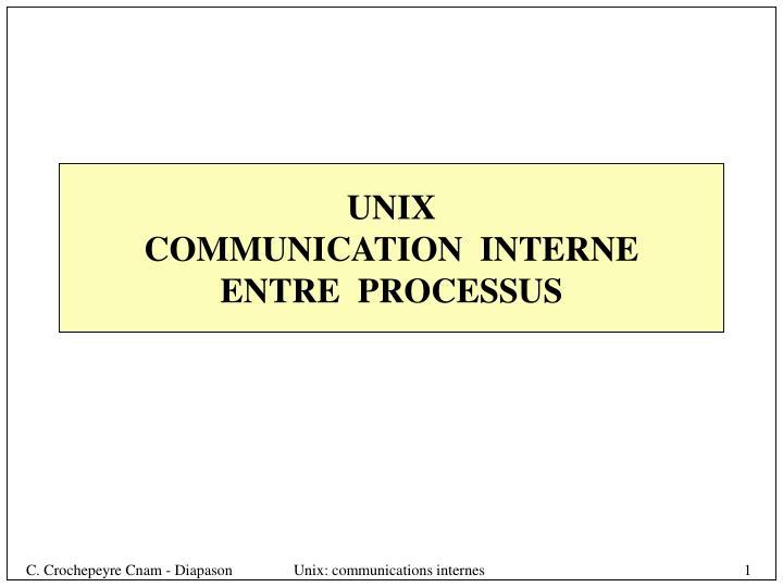 unix communication interne entre processus