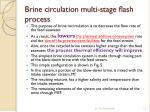 brine circulation multi stage ash process