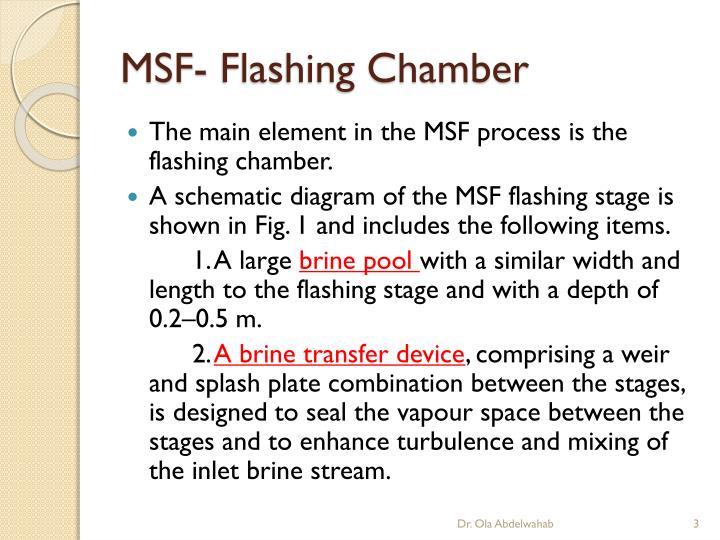 MSF- Flashing Chamber