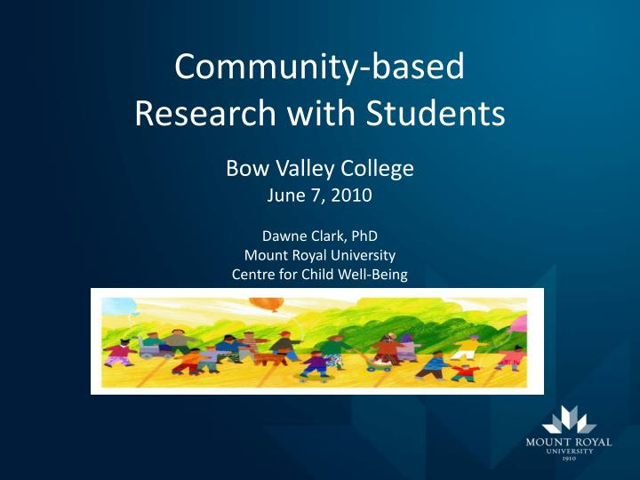community based research with students