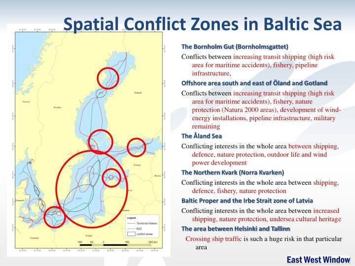 Spatial Conflict Zones in Baltic Sea