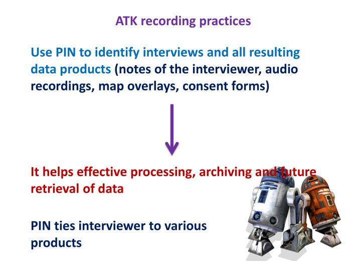 ATK recording practices