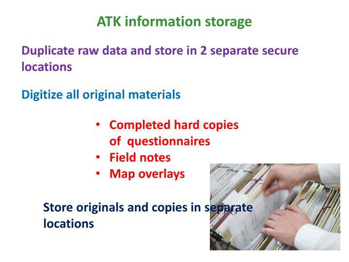 ATK information storage