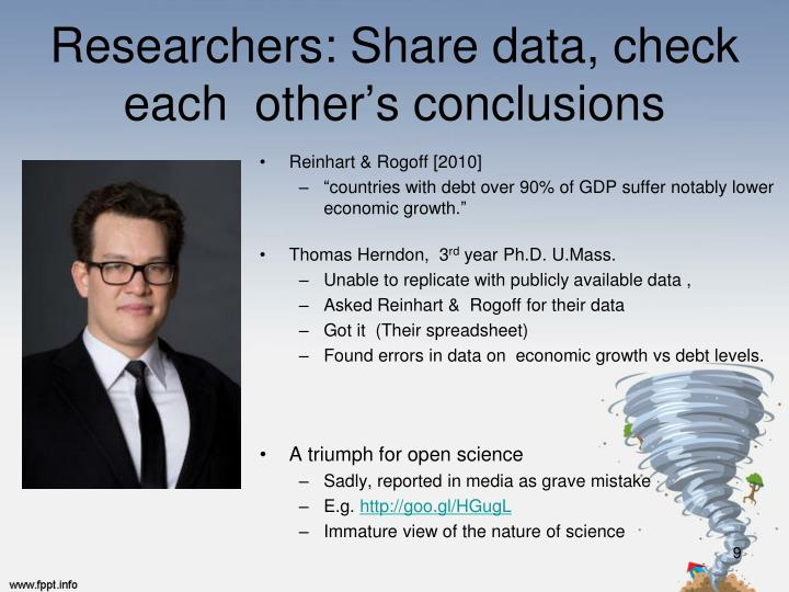 Researchers: Share data, check each  other