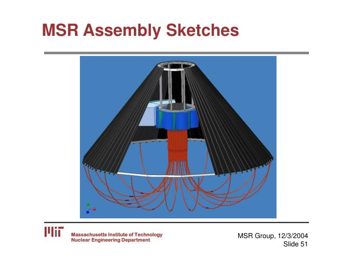 MSR Assembly Sketches