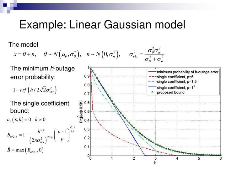 Example: Linear Gaussian model