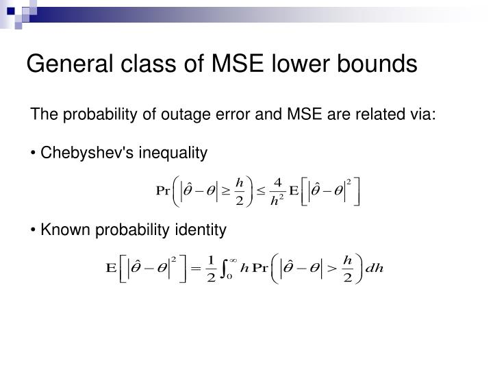 General class of MSE lower bounds