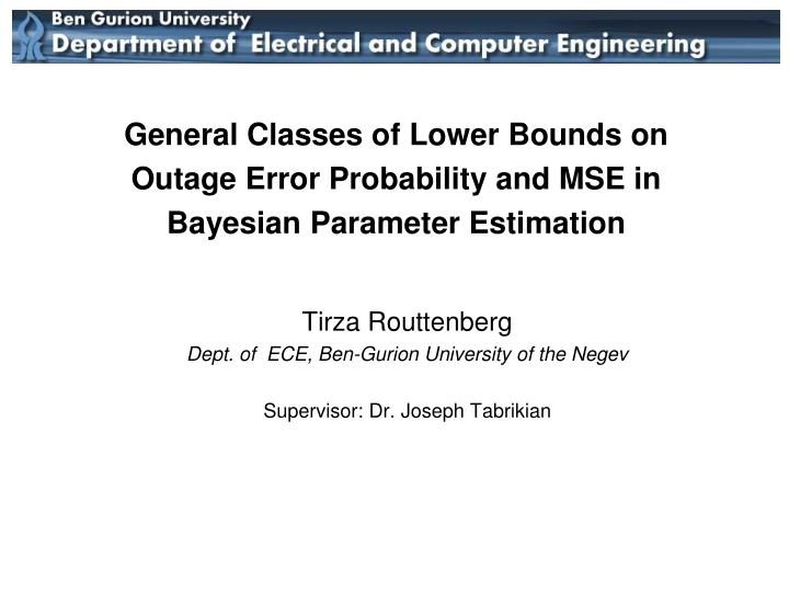 General Classes of Lower Bounds on