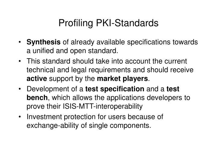 Profiling PKI-Standards