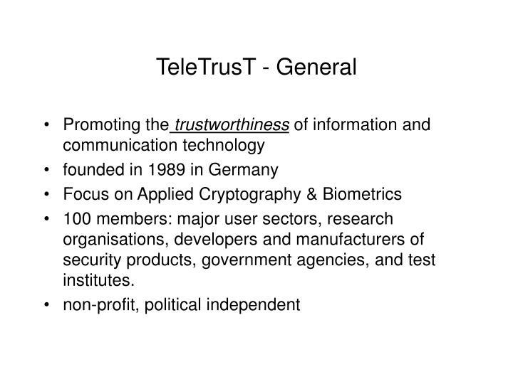 TeleTrusT - General