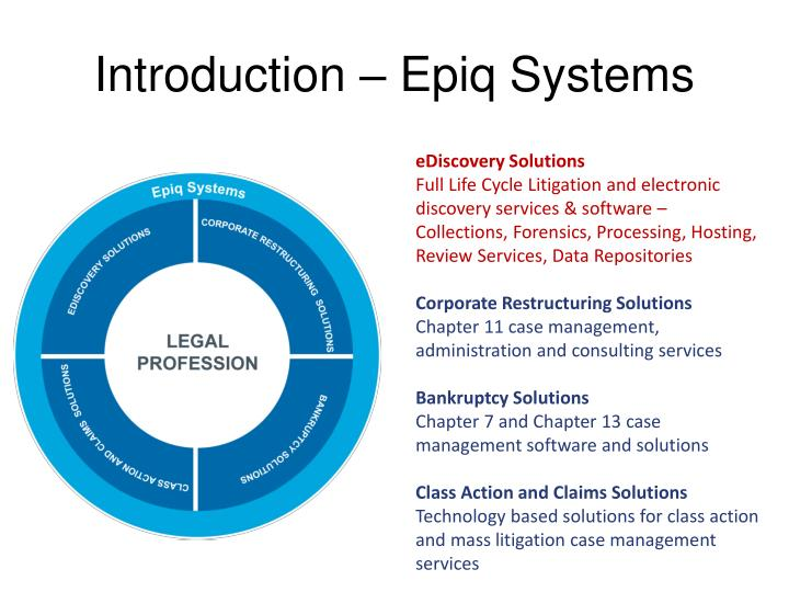 Introduction – Epiq Systems
