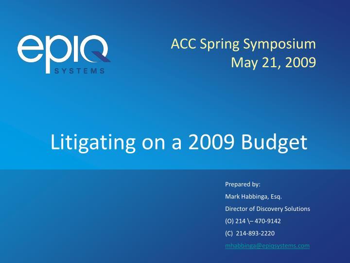 ACC Spring Symposium