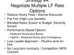 strategy 4 negotiate multiple lf rate options