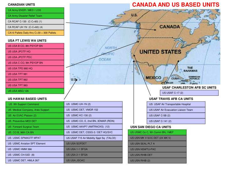 CANADA AND US BASED UNITS