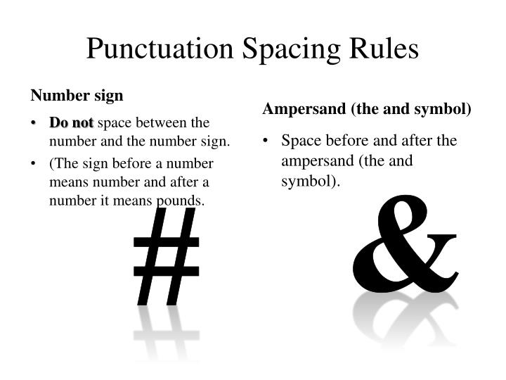 Punctuation Spacing Rules