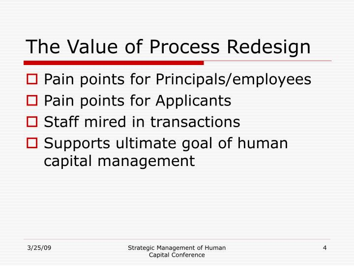 The Value of Process Redesign