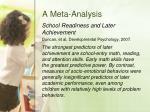 a meta analysis