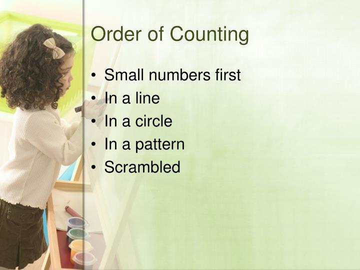 Order of Counting