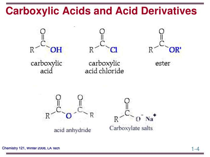 Carboxylic Acids and Acid Derivatives