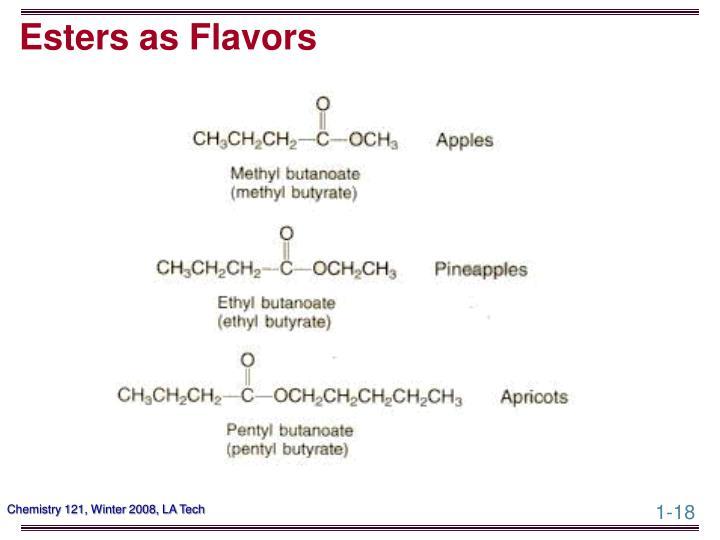 Esters as Flavors