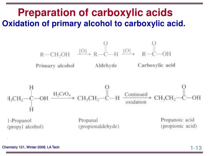 Preparation of carboxylic acids