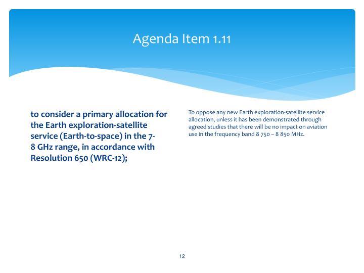 Agenda Item 1.11