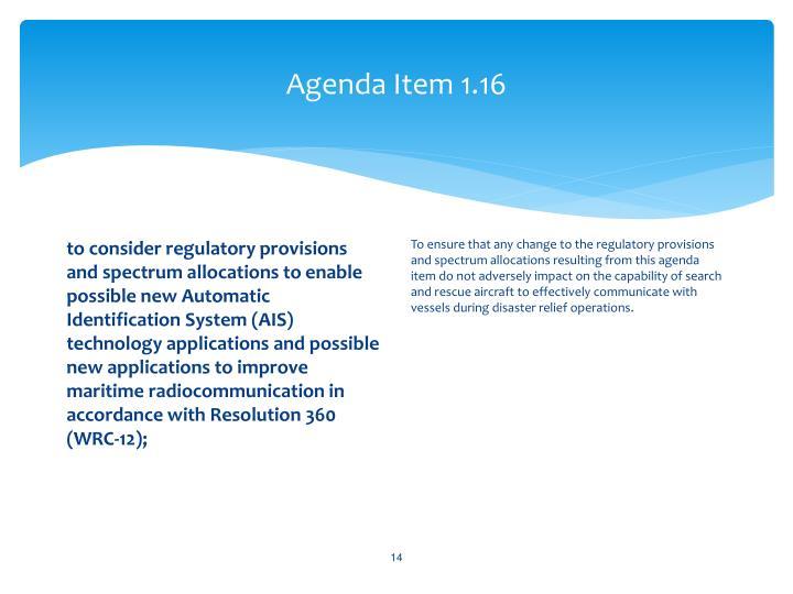 Agenda Item 1.16
