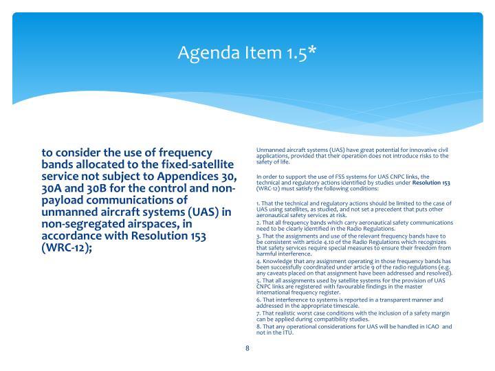 Agenda Item 1.5*