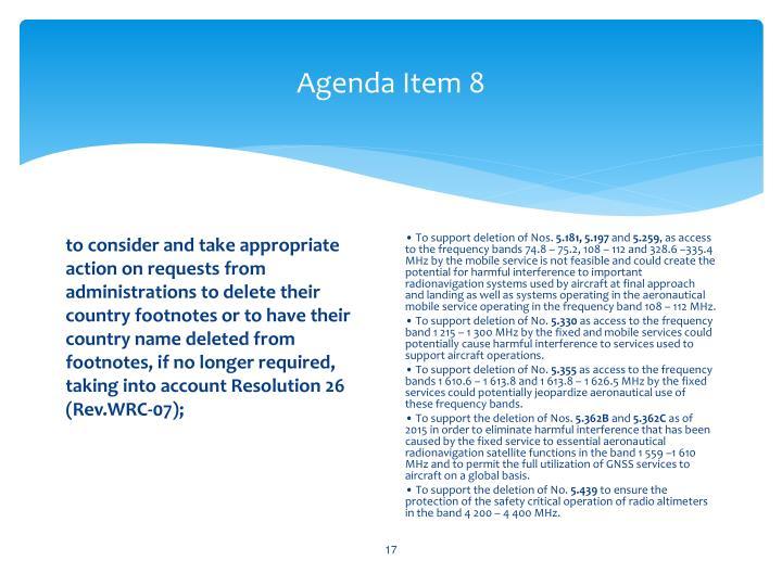 Agenda Item 8