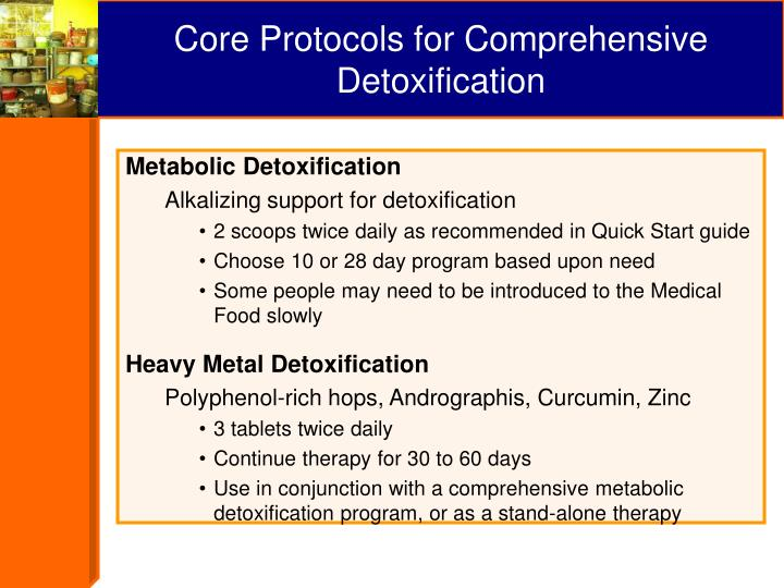 Core Protocols for Comprehensive Detoxification