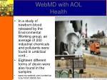 webmd with aol health
