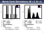 monte carlo simulations m 2 n 4
