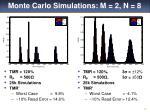 monte carlo simulations m 2 n 8