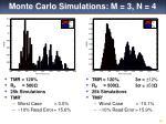 monte carlo simulations m 3 n 4
