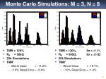 monte carlo simulations m 3 n 8