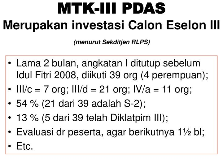 MTK-III PDAS