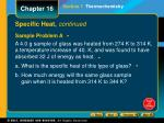 specific heat continued