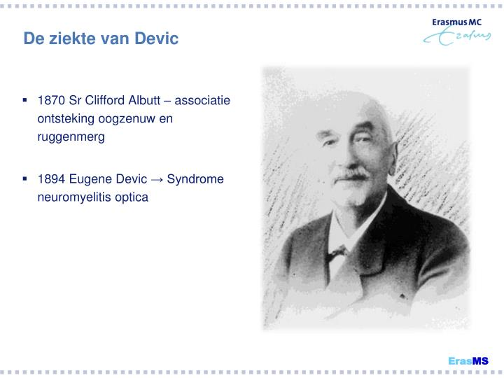 1870 Sr Clifford Albutt – associatie ontsteking oogzenuw en ruggenmerg