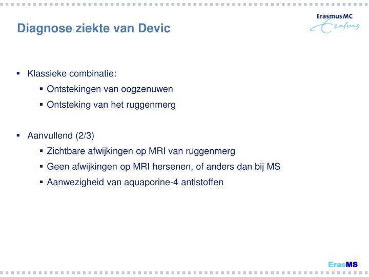 Diagnose ziekte van Devic